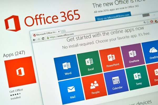 Office 365 Tile Screen