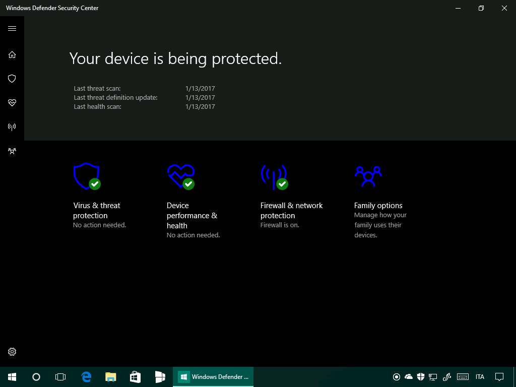 Microsoft Security Defender Security Center