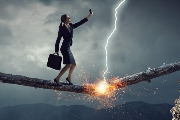 Scary Tech Business Woman