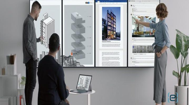 Elegant Surface Hub 2 Elevates Collaboration