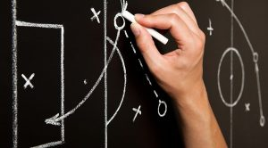 Hand Drawing Soccer Game Tactics