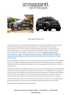 Microsoft Patrol Car
